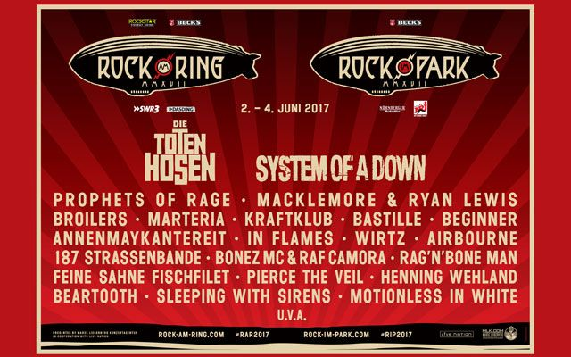 Rock am Ring / Rock im Park 2017 - Line-Up