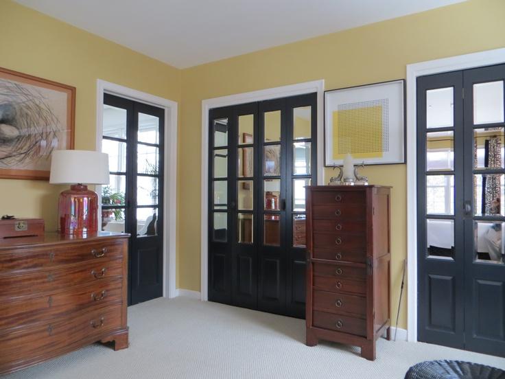 Mirrored doors bedroom