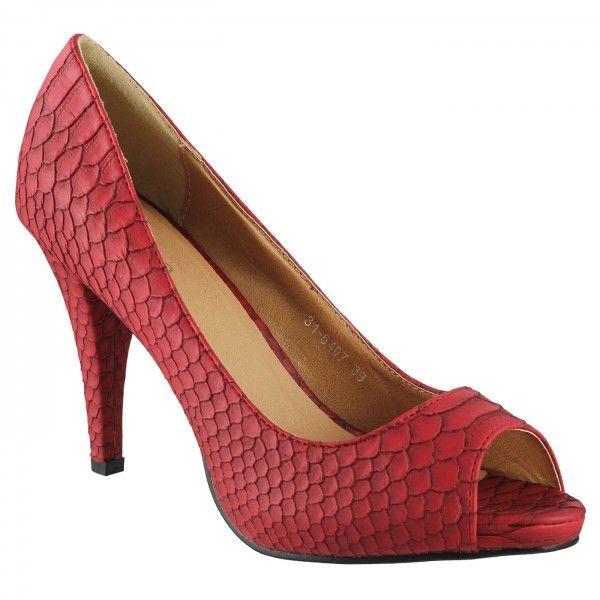 Metro Red Formal Peep Toes