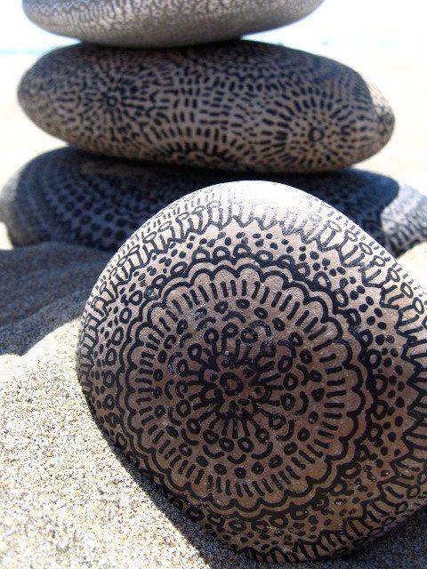 how to draw stone rocks