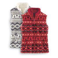 Snowflakes Fleece Vest