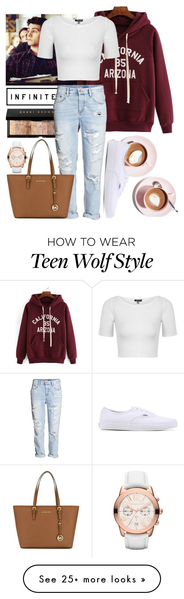 """I Love The Hoodie Season"" by tennis-court on Polyvore featuring Bobbi Brown Cosmetics, H&M, Topshop, Vans and MICHAEL Michael Kors"