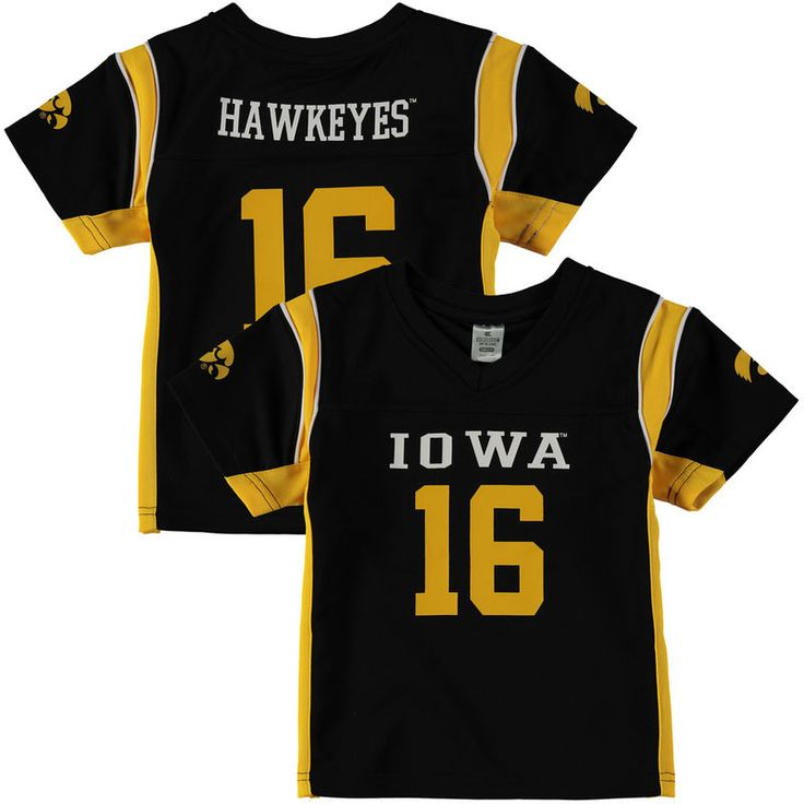#16 Iowa Hawkeyes Colosseum Youth Football Jersey - Black