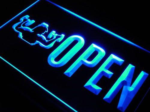 OPEN Gym Gymnasium Room Shop NEW Neon Light Sign