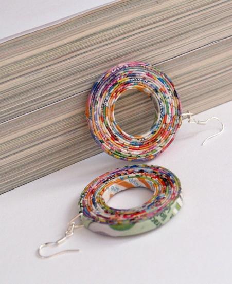 BLURECO - paper earings | kolczyki z papieru