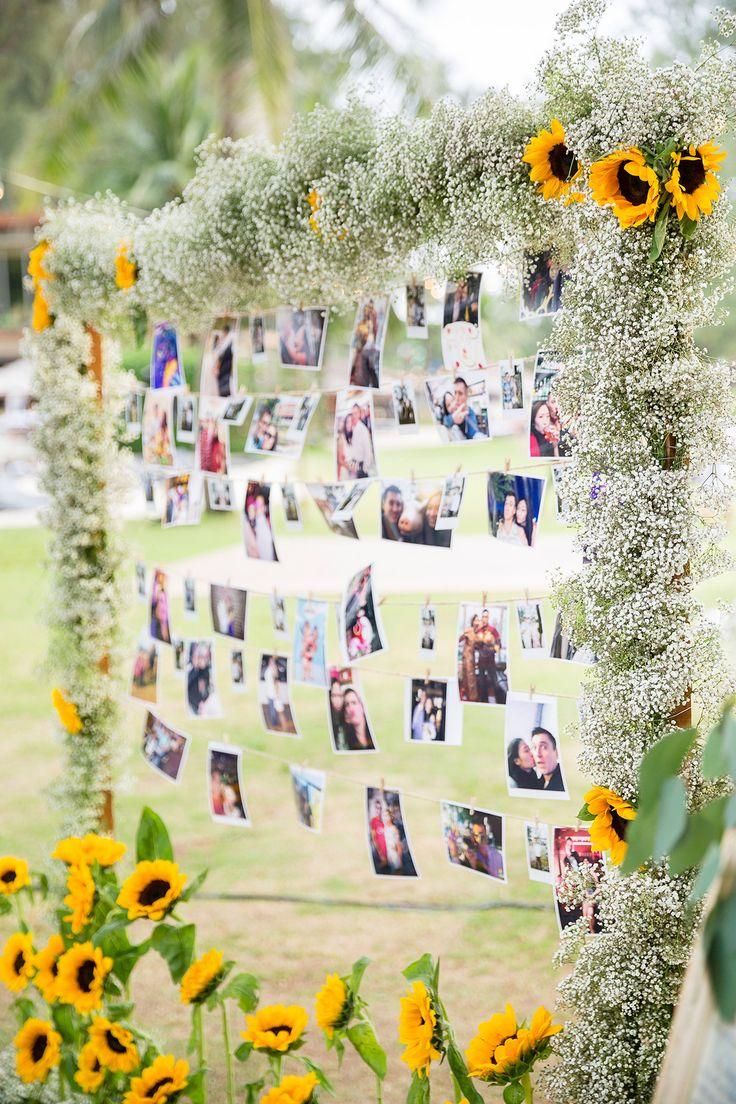 Gary and Yanny's bright, sunflower-filled destination wedding in Phuket, Thailand