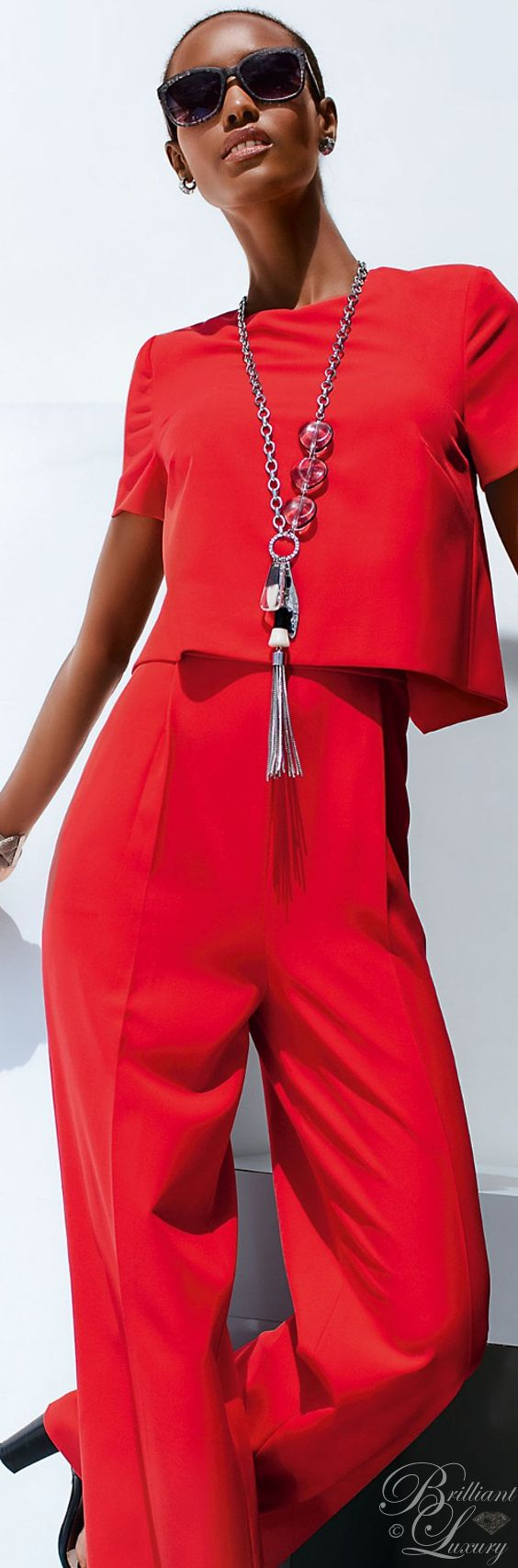 Brilliant Luxury ♦ Madeleine #fashion #red overall