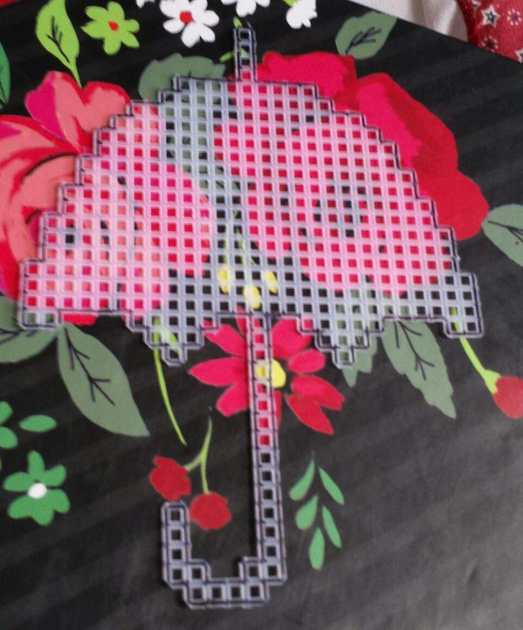 pre cut plastic canvas umbrella by smf1229 on Etsy