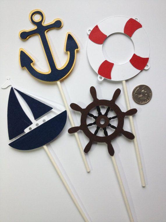12 Nautical Themd Diaper Cake Decorations Add to by MiaSophias, $16.99