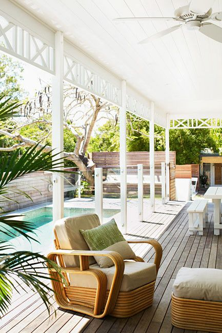 Byron Bay beach house pool and decking; photo Prue Ruscoe; styling Shannon Fricke