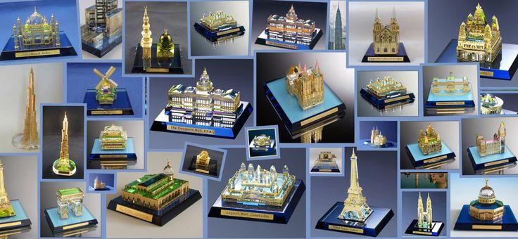 WORLD LANDMARKS Miniature Crystal Buildings