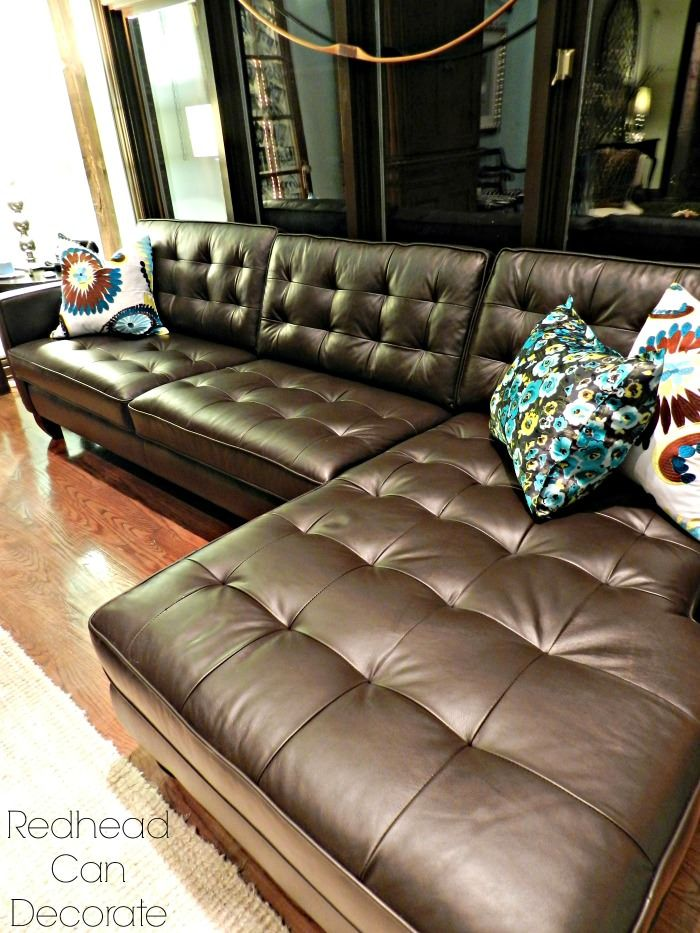 Best Brown Leather Sectional