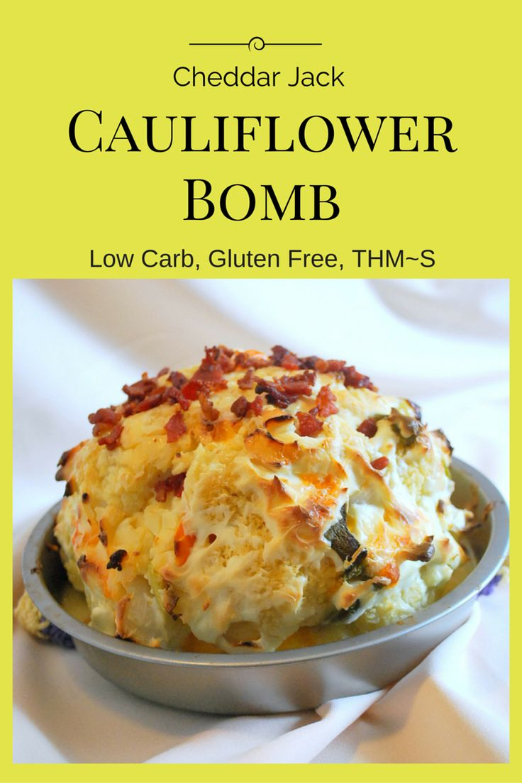Cheddar Jack Cauliflower Bomb (Low Carb, THM S) - Wonderfully Made and Dearly Loved