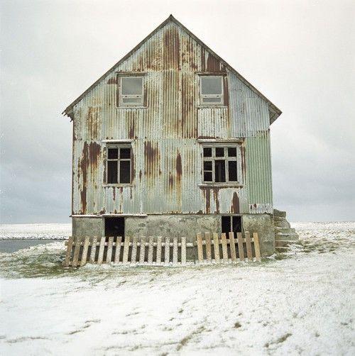 rustic beach shack......love the colour