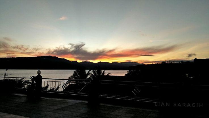 Lake toba in the morning
