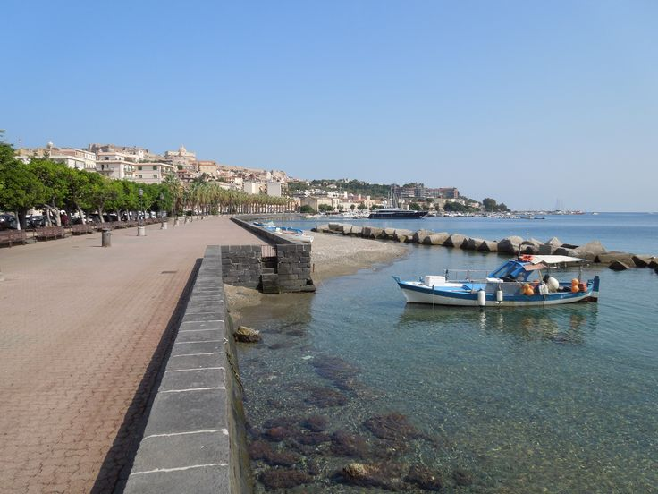 Waterfront at Milazzo, Sicily.