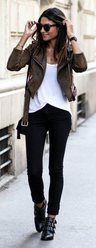 17 Best ideas about Brown Jacket Outfit on Pinterest | Tan leather ...