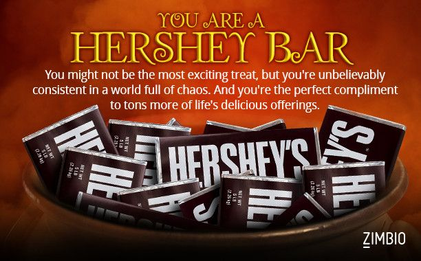 I took Zimbio's Halloween candy quiz and I'm Hershey Bar. What are you?null - Quiz