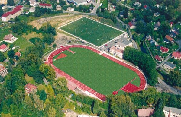 MĚSTSKÝ STADION v Kotlině - Varnsdorf (Fotbalový a lehkoatletický stadion)