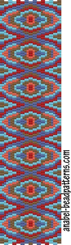 4 схемы браслетов - мозаика / 4 free peyote patterns