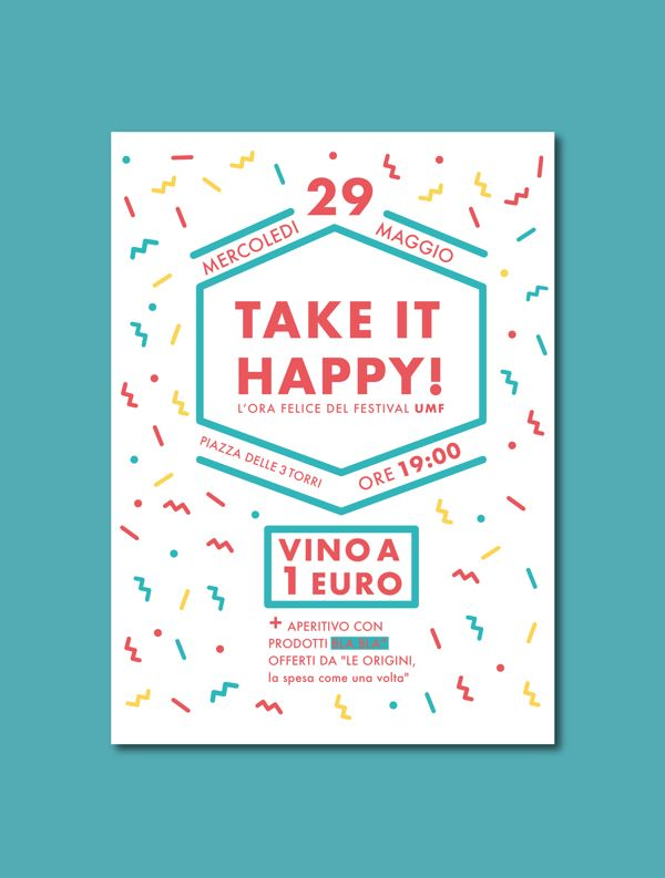 """Take it Happy"", Aperitivo by Cláudia Alexandrino, via Behance"