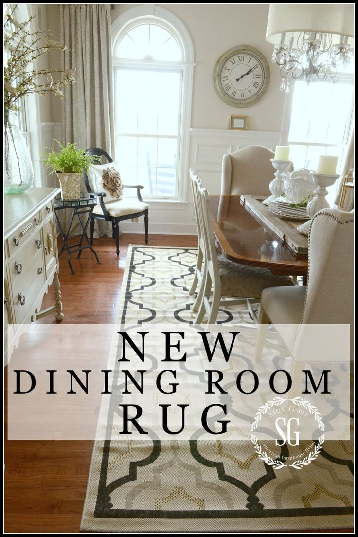 17 best ideas about dining room rugs on pinterest for Dining room update ideas