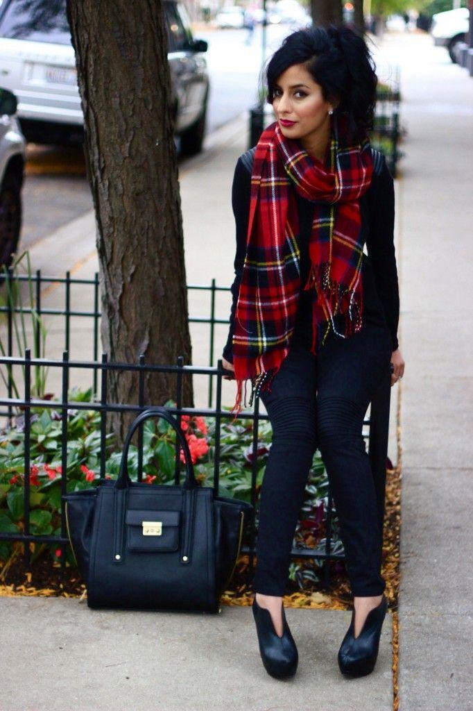 winter layer love // oversized tartan scarf via The Style Menu