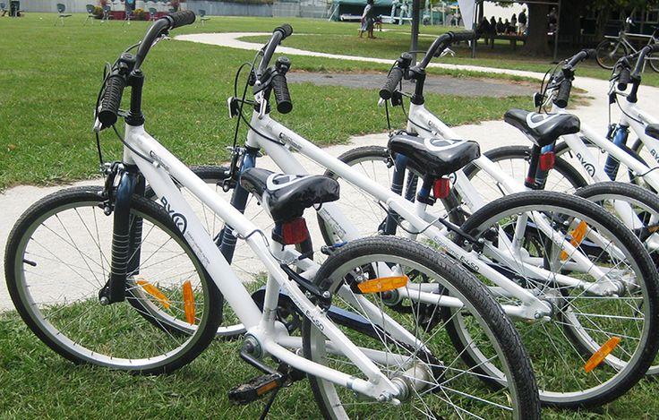 ByK Kids Bikes lined up ready to ride - Bike On NZ Trust