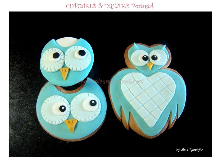 OWL COOKIES - by Ana Remígio CUPCAKES & DREAMS Portugal