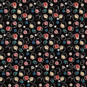 Balonase de sapun pe fond negru - Materiale textile online