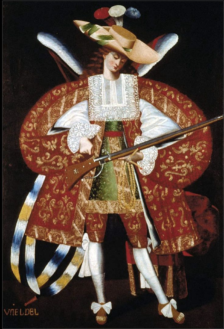 Archangel Uriel. Cuzco school, a Roman Catholic artistic tradition based in Cusco, Peru (the former capital of the Inca Empire) during the Colonial period, in the 16th, 17th and 18th centuries.