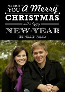 Mixbook Black and White Vintage Type Christmas Cards