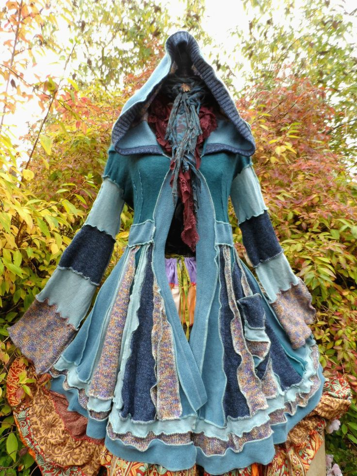 QUIRKY PATCHWORK PIXIE ELF COAT FREESIZE STEAMPUNK LAGENLOOK PAGAN LARP COSPLAY | eBay