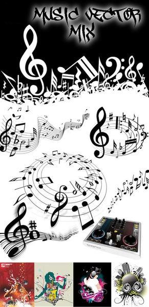 Müzik Notaları Vektörel Istek Türkiyenin Büyük Grafikerler