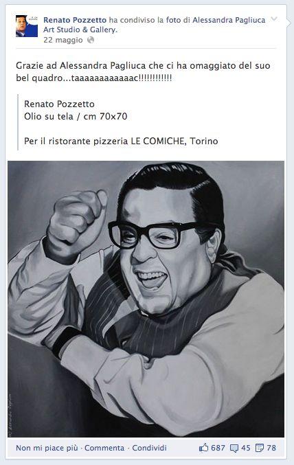 RENATO POZZETTO Fan Page Link condiviso dell'opera Olio su tela | cm 70x70