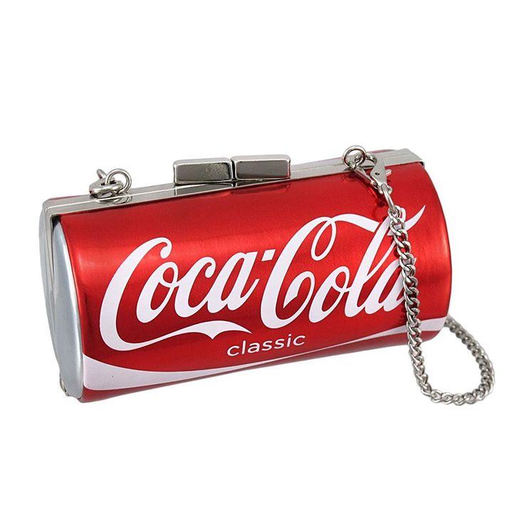 Licensed Coca-Cola Classic Can Evening Bag Coke Clutch Best Offer. Review Licensed Coca-Cola Classic Can Evening Bag Coke Clutch Vinyl. Made Of PVC Vinyl. Accompanies Chrome Shoulder Strap. 4 3/4 Inches Long,  Licensed Coca-Cola Classic Can Evening Bag Coke Clutch  #Licensed #Coca #Cola #Classic #Can #Coke #Clutch