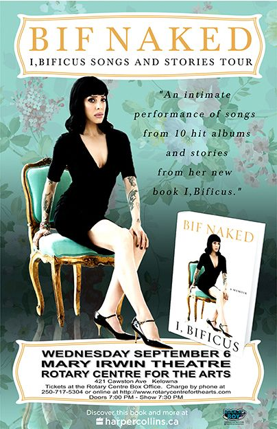 6TH SEPTEMBER, 2017 BIF NAKED - I, BIFICUS SONGS AND STORIES TOUR Kelowna B.C