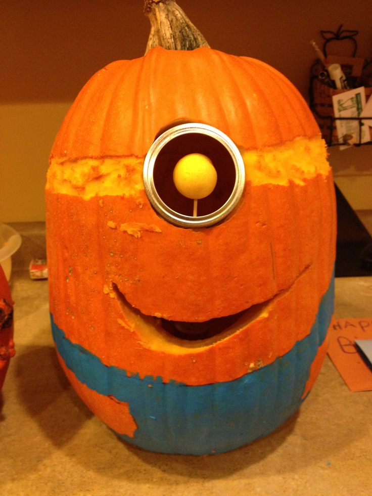 Minion Pumpkin Tutorial. October 3, by Lucy 43 Comments. This is a great idea, love the minions a little confused on painting the bottom blue, it looks like the pumpkin was painted all yellow and then painted the overalls on last. Reply. Fiona says. October 25, at am.