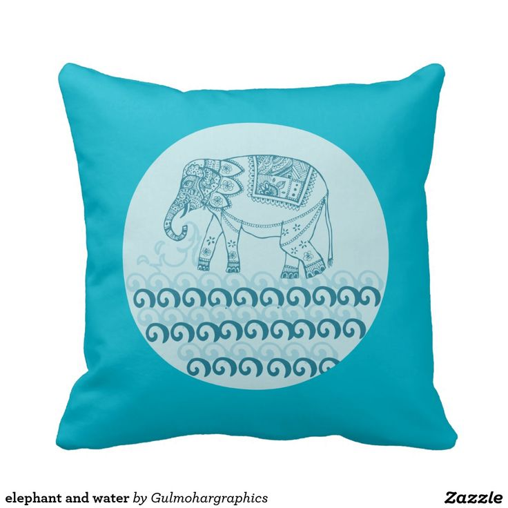 elephant and water pillow