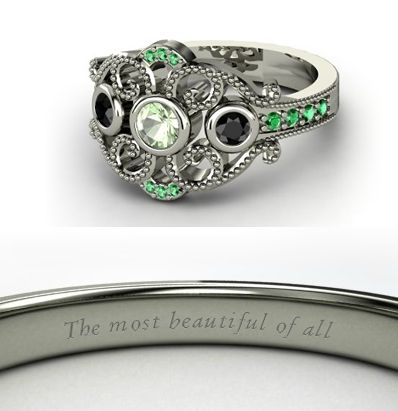 There are Disney princess engagement rings...this is the Mulan one. Cool!
