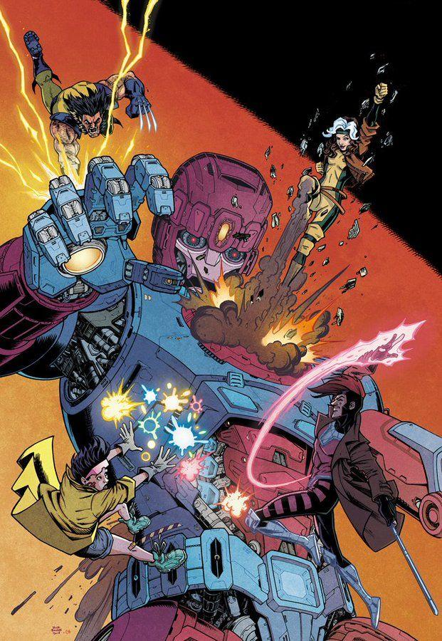 X Men Vs Sentinel By Chris O Halloran And Nick Roche Marvel Comics Art Xmen Art Marvel Art