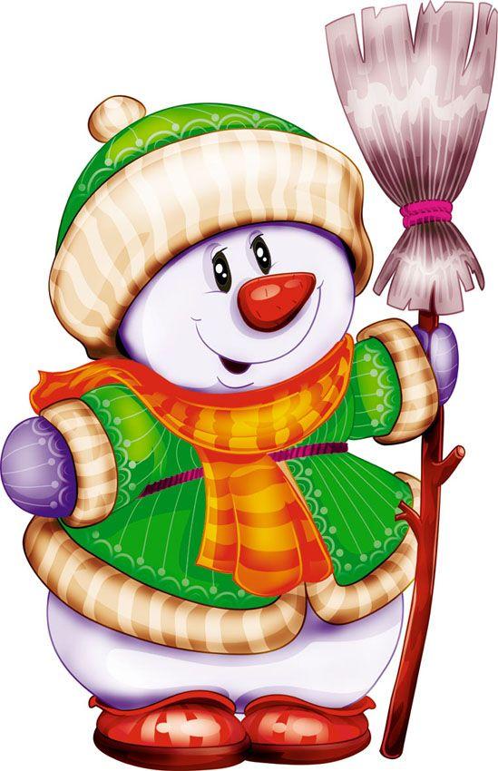 Сова, рисунки веселые снеговики