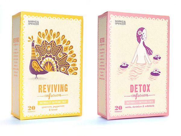 Marks and Spencer tea packaging | Illustrator: Stuart Kolakovic