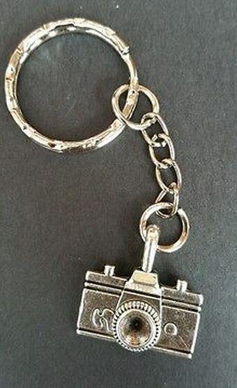 Pas cher Vintage Argent Caméra Charme Porte clés Pour Les Clés De Voiture Porte…