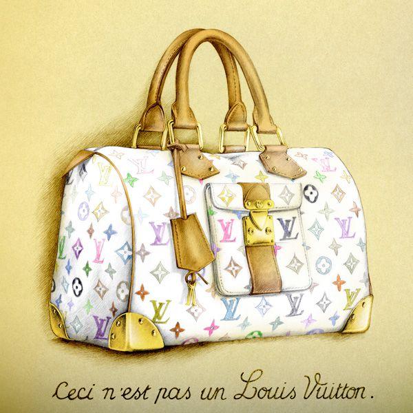 Illustration mode sac LOUIS VUITTON Florence Gendre
