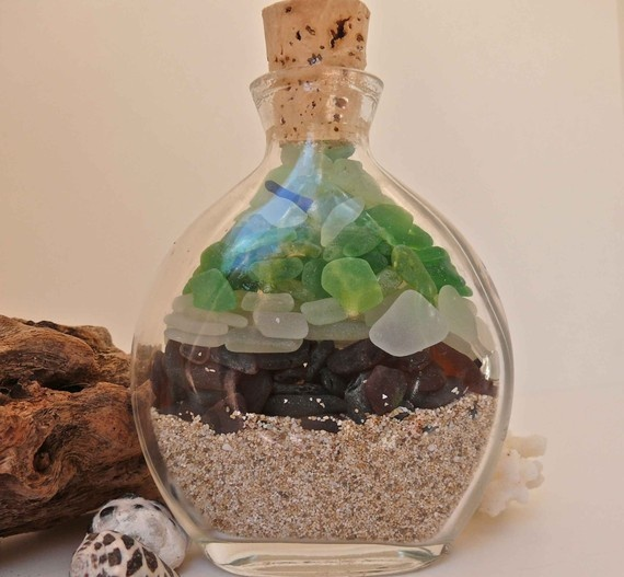how to sand cut glass bottles