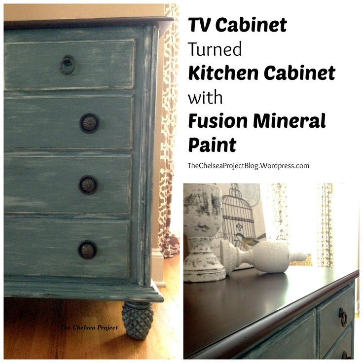 Tv Cabinet Turned Kitchen Cabinet With Fusion Mineral