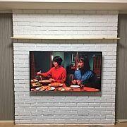 Lounge/北欧/リノベーション/造作棚/モルタル/壁掛けテレビ...などのインテリア実例 - 2016-07-28 16:44:03|RoomClip (ルームクリップ)