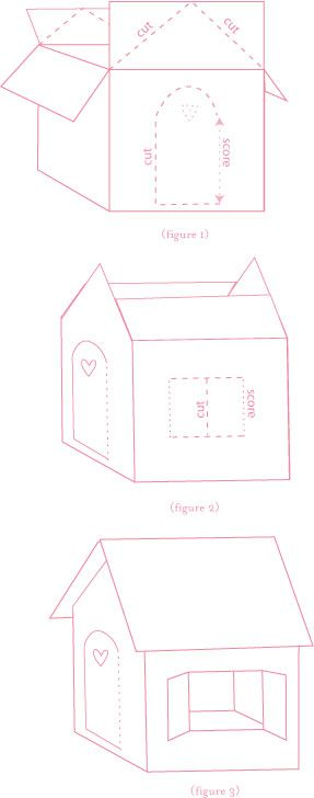 how to make a gingerbread box house out of cardboard