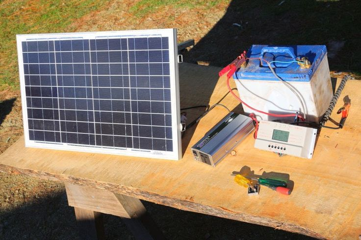 How to build  a basic portable solar power system -camping,boating,off g...